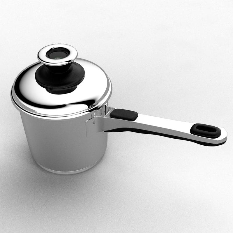 3d model pan sauce saucepan