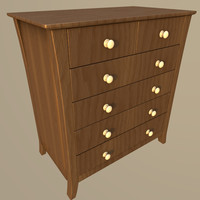 3d realistic vermont drawer