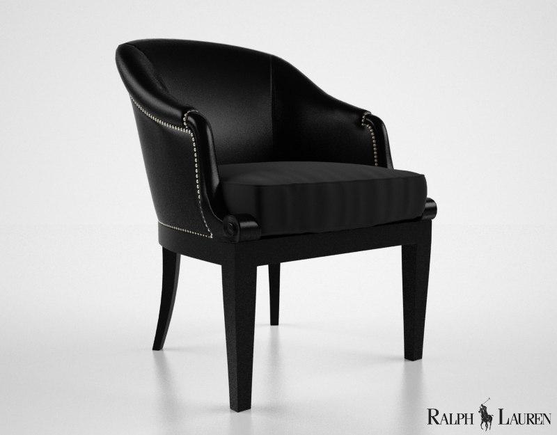 ralph lauren duchess dining chair 3d model