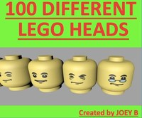 100 different LEGO heads
