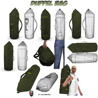 duffel bag 3d obj
