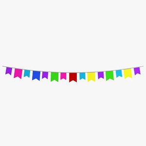 party decoration 3d 3ds