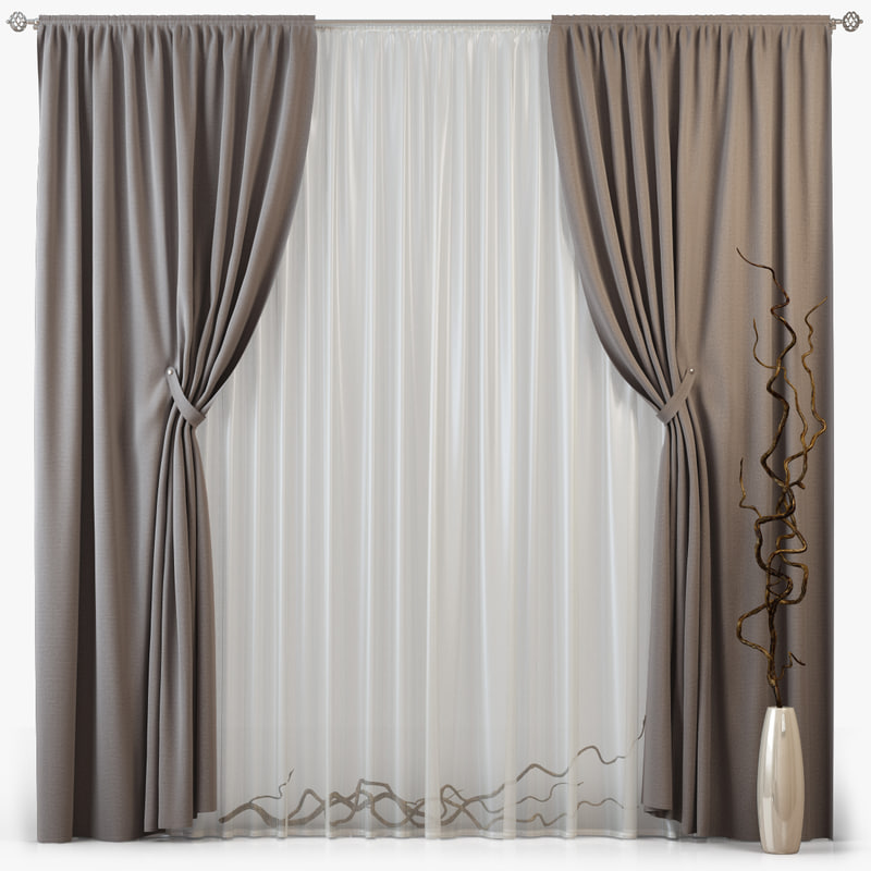 tull curtains m09 3d model
