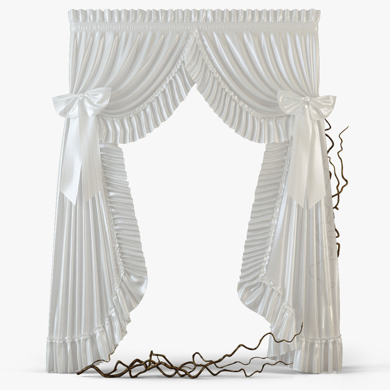 curtains m12 3d model