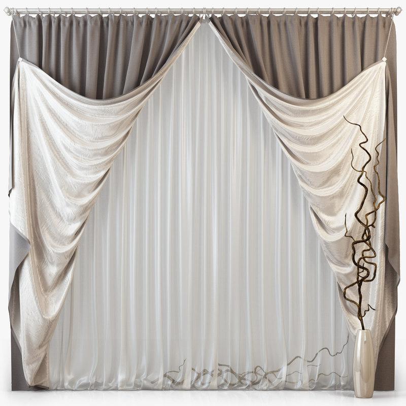 3d tull curtains m14 model
