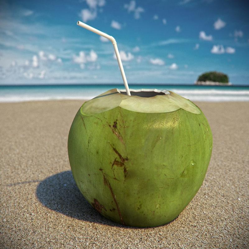 3d coconut cocktail