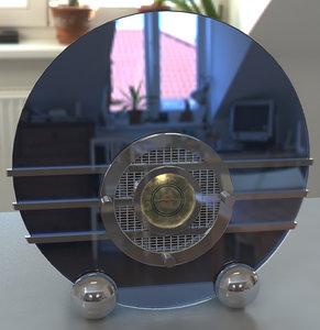 sparton bluebird radio art deco 3d model