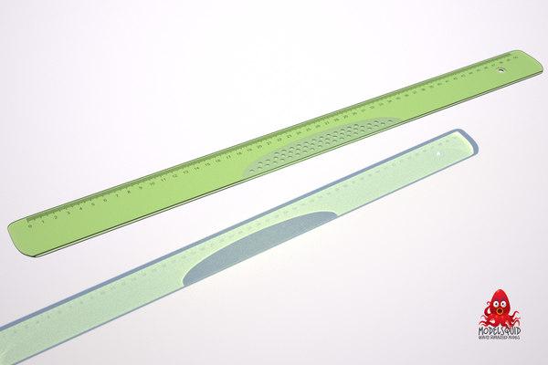 obj transparent ruler