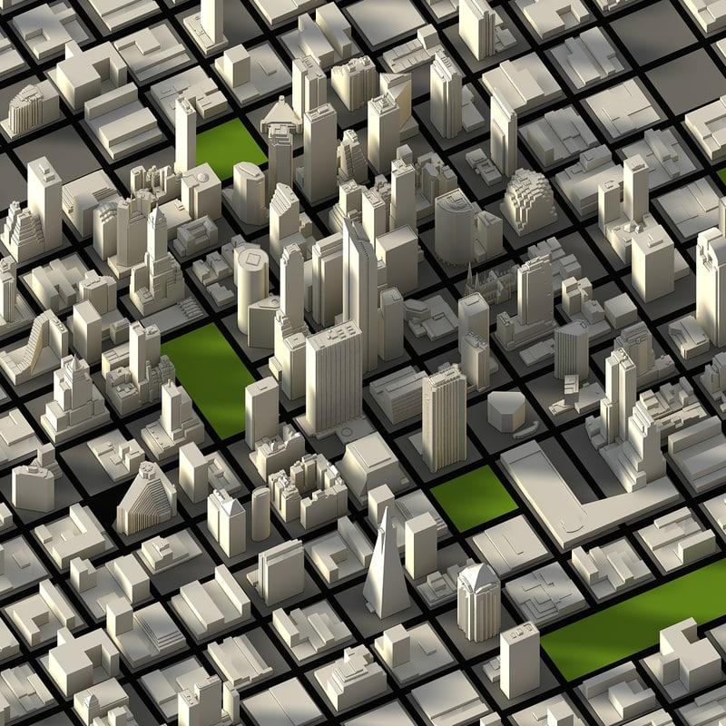 3dsmax city houses