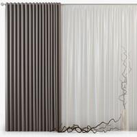 3d max tull curtains m19