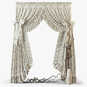 curtains m21 3d model