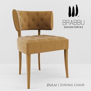 chair brabbu dining 3d max