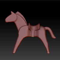 toy horse 3d obj