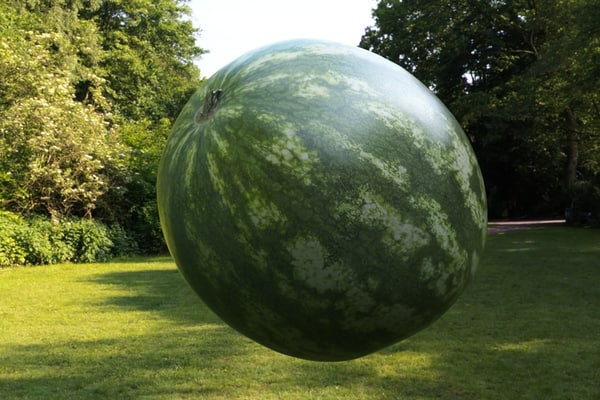 watermelon super realistic 3d model