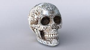sculpture skull scan obj