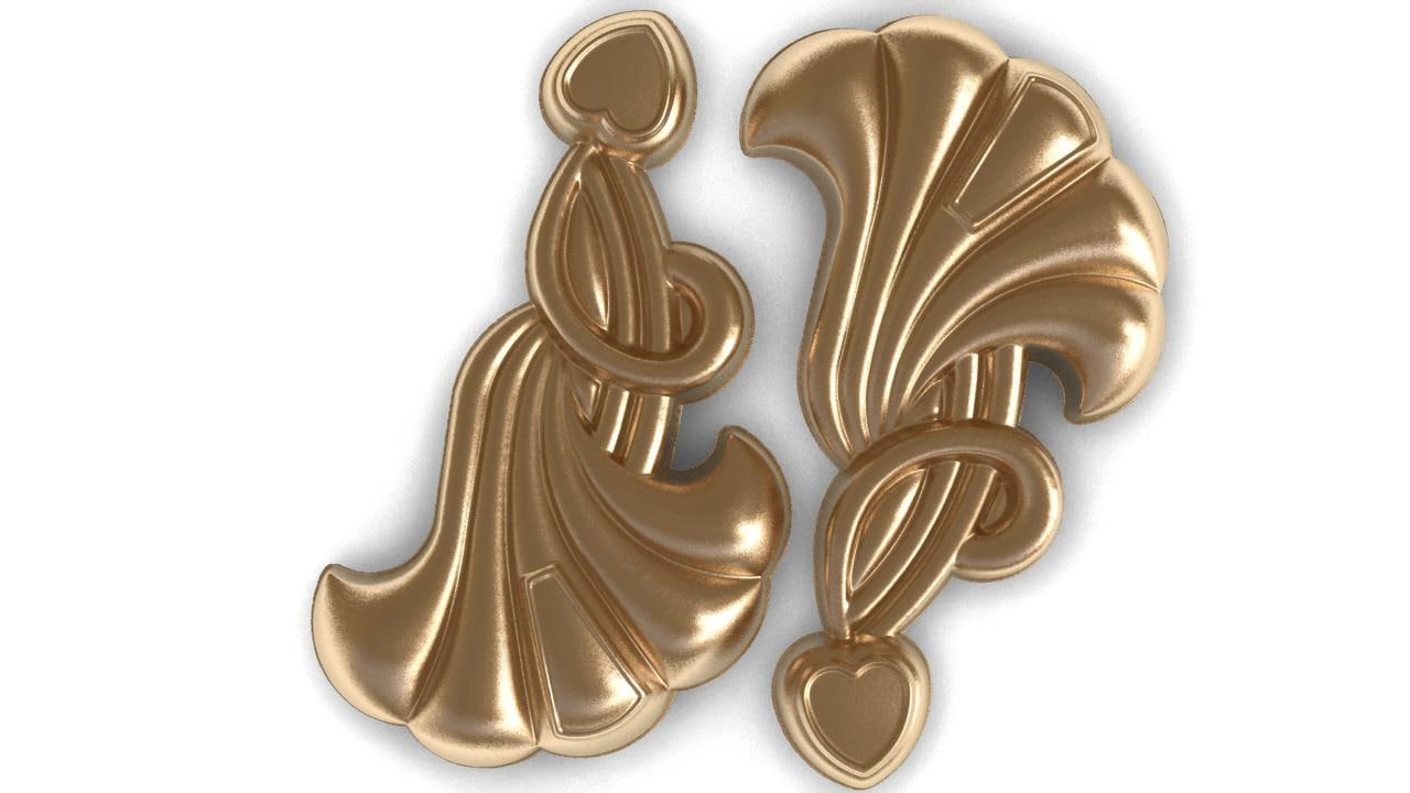 3d earings relief bas