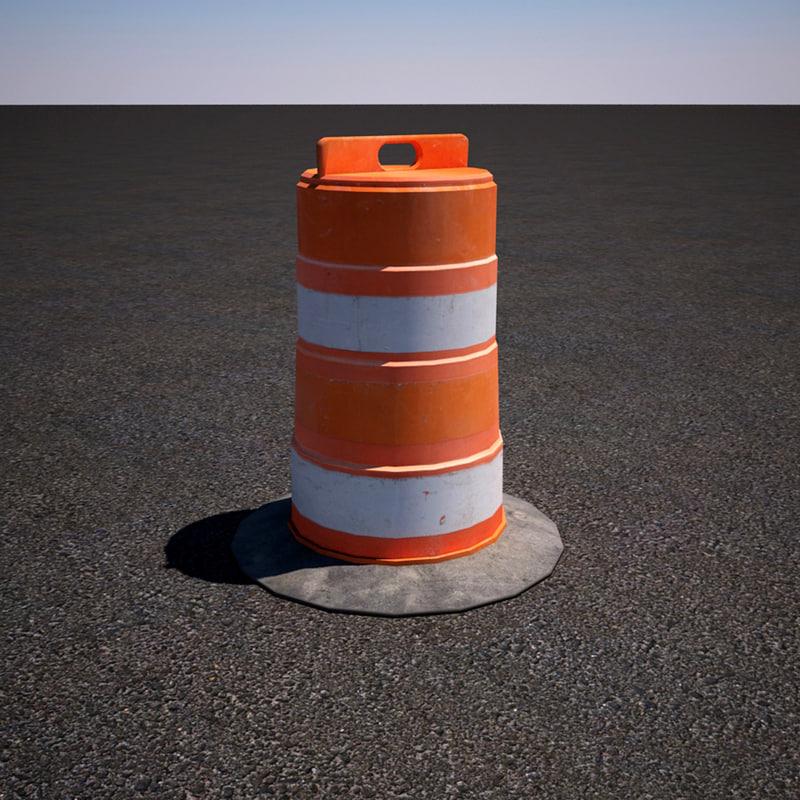orange construction road barricade max