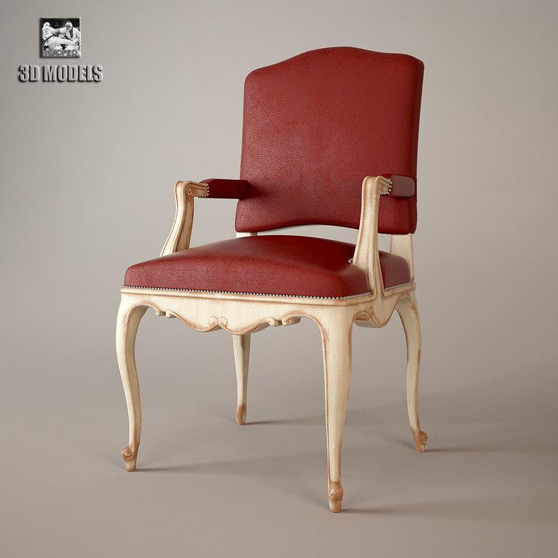 3d model salda armchair 8522