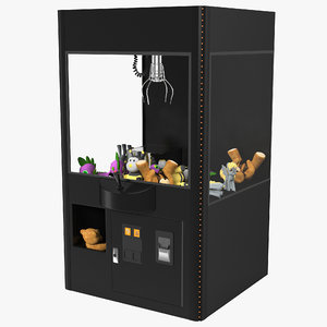 3d claw vending machine model