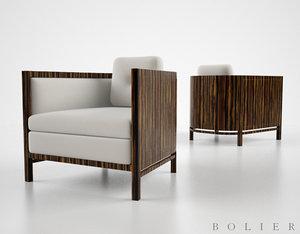 3d model boiler domicle armchair