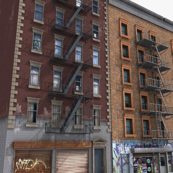 bronx buildings 3d 3ds