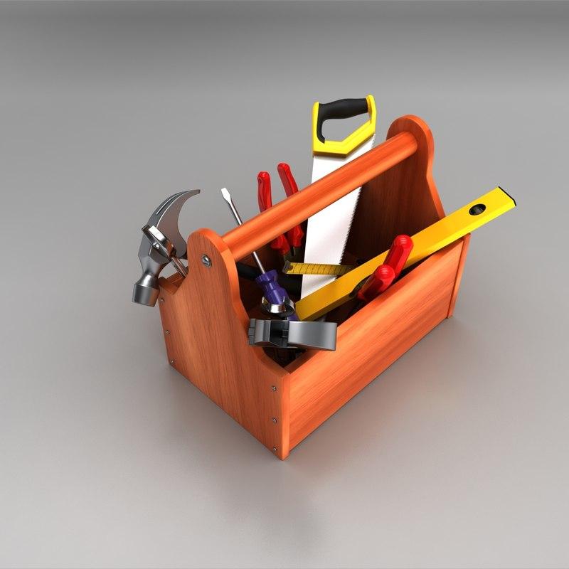 3d tool box model