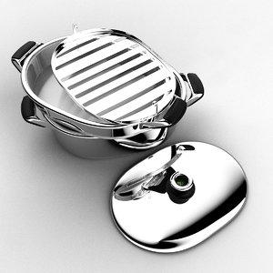 3d kitchen pan