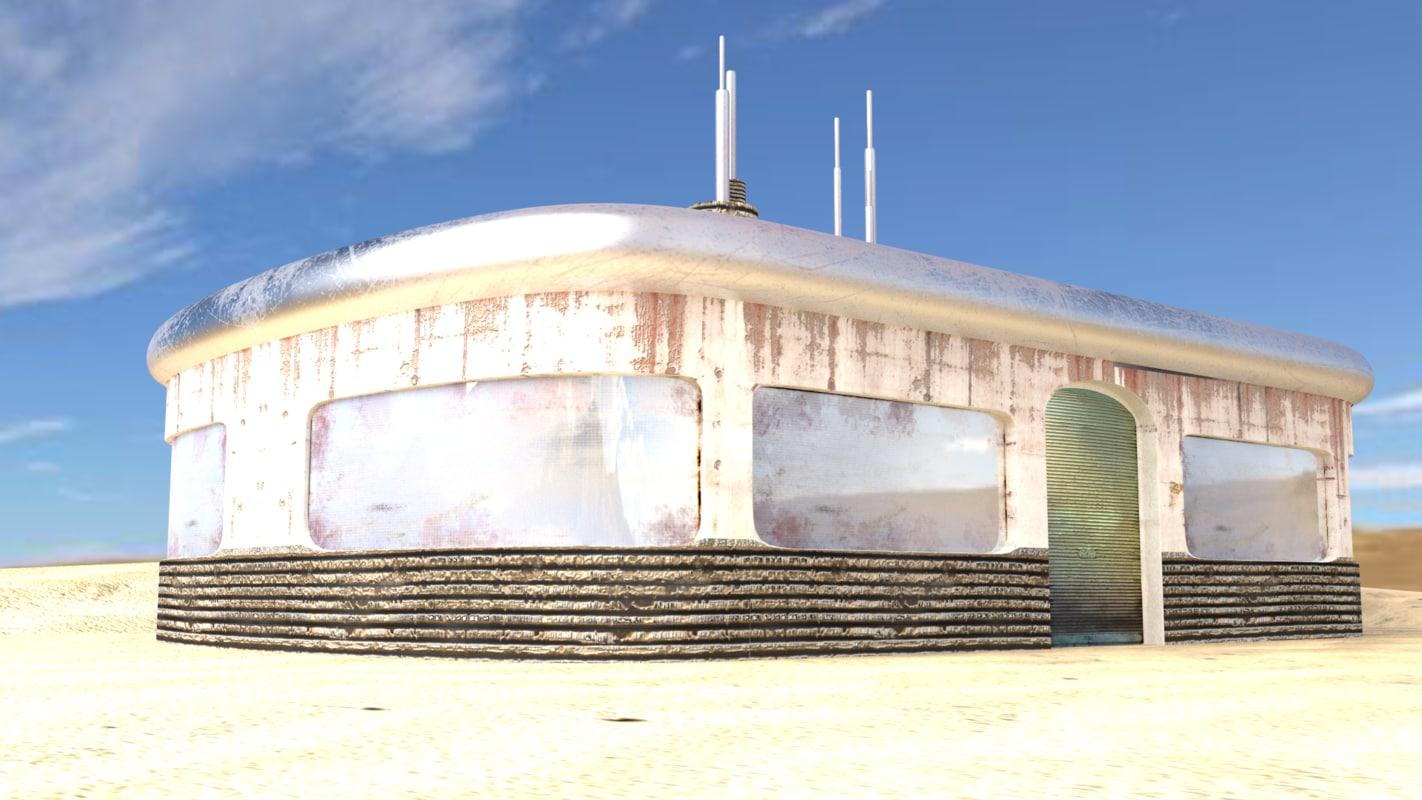 scifi building obj