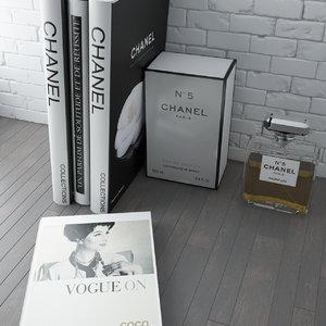 books chanel 5 3d max