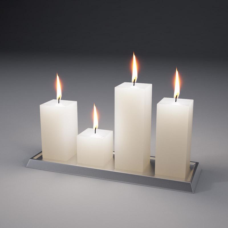 realistic candles 3d max