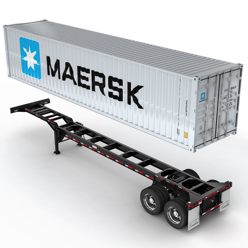 3d semi trailer container