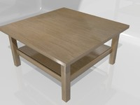 3d hemnes coffee table model