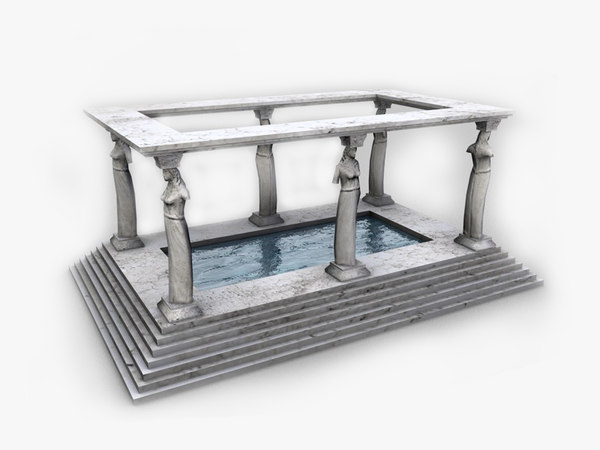 3d model ancient bath