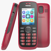 3d nokia 112 red model
