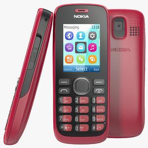 3d nokia 112 red model