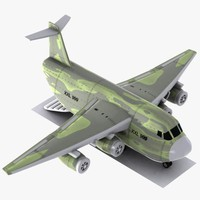 Cartoon Military Cargo Aircraft