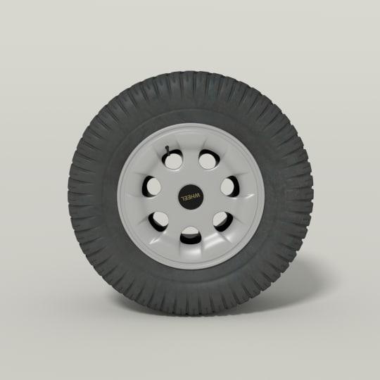 3d car wheel model