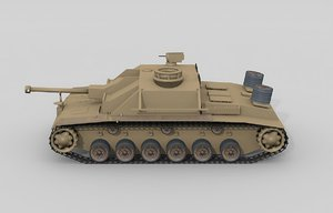 3d german assault tank model