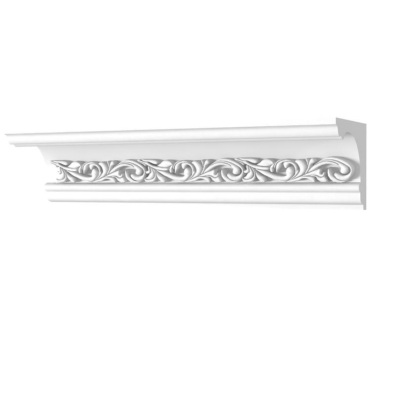 plaster k23 cornice 3d max