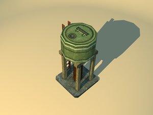 water barrel 3d model