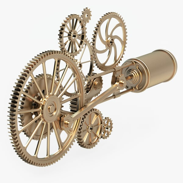 3d model steam punk mechanism