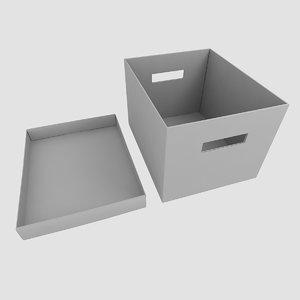 bankers box 3d model