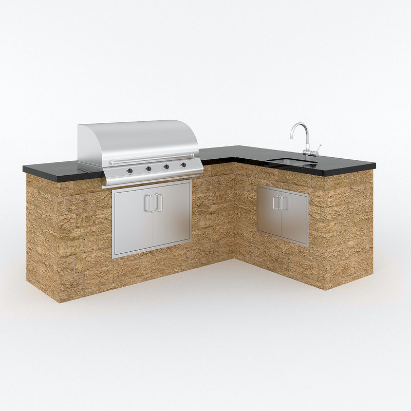 outdoor kitchen 3d max
