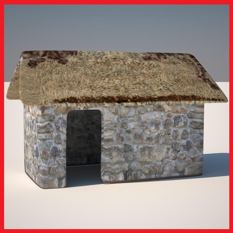 huts 3 3d model