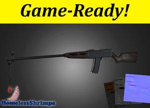 3d wwii assault rifle