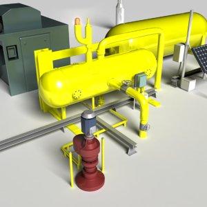3d model gas pump equipment