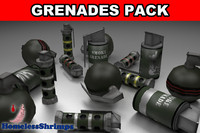 pack grenades 3d x