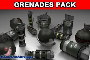 pack grenades 3d x