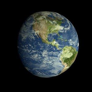 3d earth realistic model