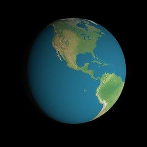 16k earth obj